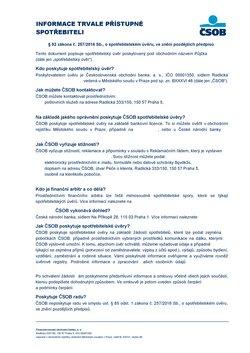 Banky a Služeb akce v Čsob katalogu ( Před více než měsícem)