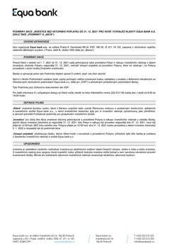 Banky a Služeb akce v Equa Bank katalogu ( Zbývá 7 dní)