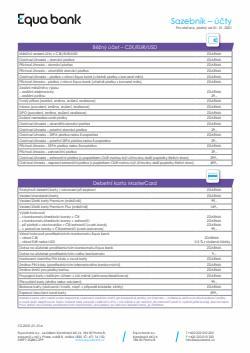 Banky a Služeb akce v Equa Bank katalogu ( Zveřejněno dnes)
