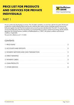 Bank a Služeb akce v Raiffeisenbank katalogu ( Před více než měsícem )