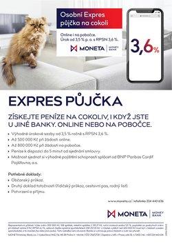 Banky a Služeb akce v Moneta Money Bank katalogu ( Vyprší zítra)