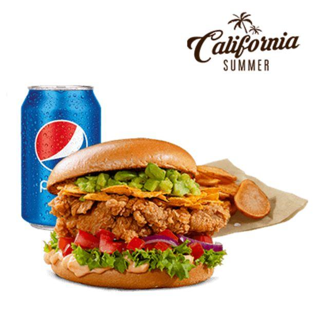 California Zinger menu akce v 169Kč