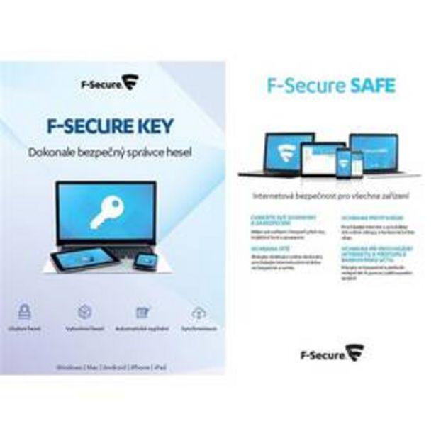 Software F-Secure TOTAL,  3 zařízení / 1 rok + KEY Premium X zařízení / 2 roky (FCFTBR1N003G1KEY) akce v 989Kč