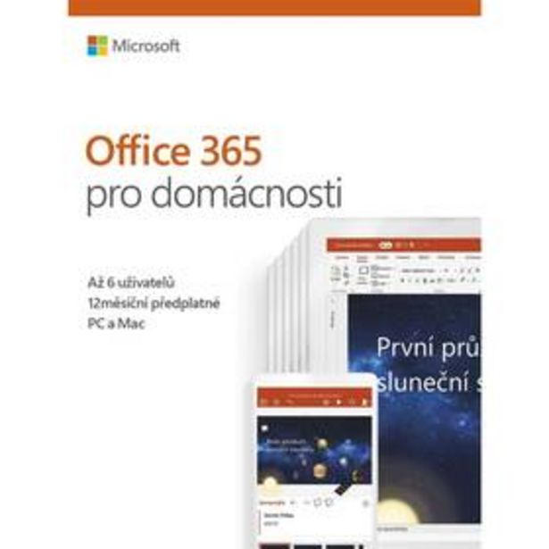 Software Microsoft 365 pro rodiny CZ (6GQ-00898) akce v 1799Kč
