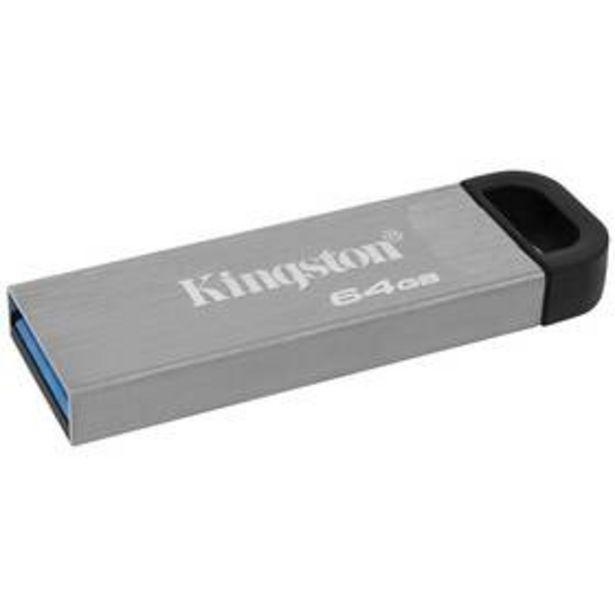USB Flash Kingston DataTraveler Kyson 64 GB (DTKN/64GB) stříbrný akce v 499Kč