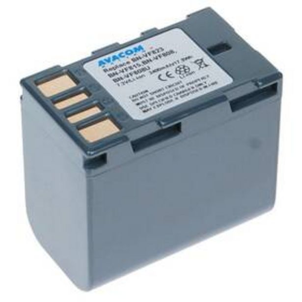 Baterie Avacom JVC BN-VF808, VF815, VF823 Li-Ion 7.2V 2400mAh 17.3Wh (VIJV-823-154) akce v 999Kč