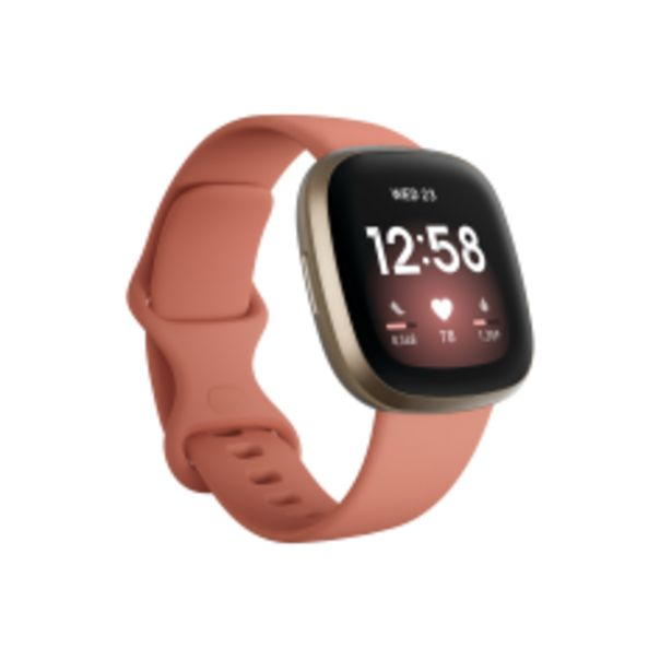 Hodinky Fitbit Versa 3, růžová akce v 6377Kč