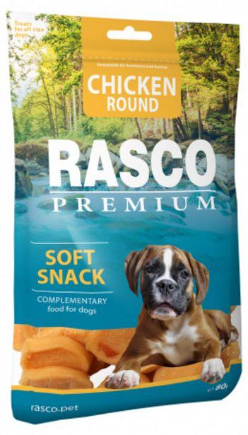 Pochoutka Rasco Premium kolečka z kuřecího masa 80g akce v 59Kč