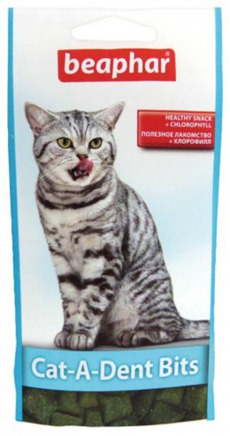 Pochoutka pro zdravé zuby Beaphar Cat-A-Dent Bits 35 g akce v 59Kč
