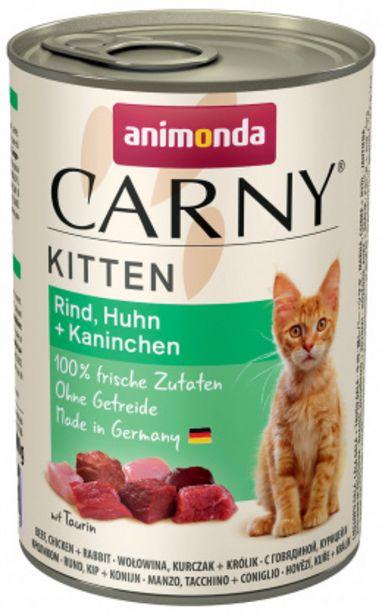 Konzerva ANIMONDA Carny Kitten hovězí + kuřecí + králík 400g akce v 59Kč