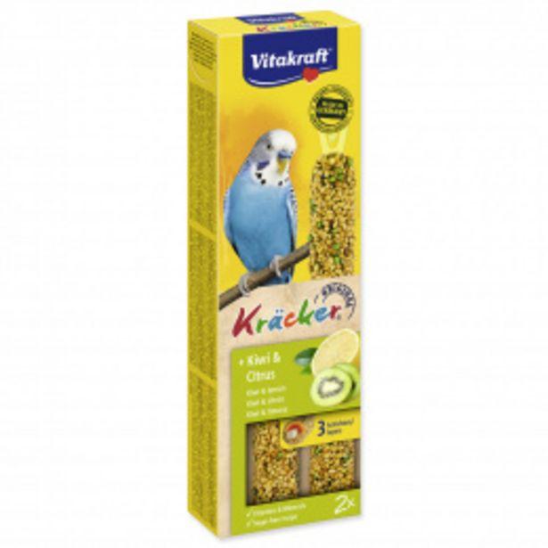 Tyčinky Vitakraft Kracker kiwi a citrus 2ks akce v 54Kč