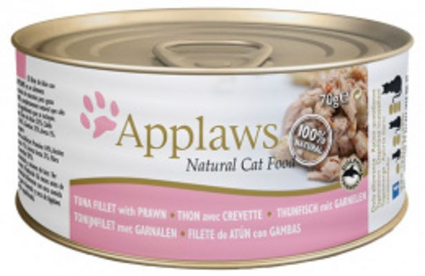 Konzerva Applaws Cat tuňák & krevety 70g akce v 39Kč
