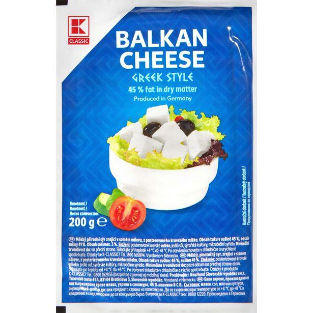 Balkánský sýr řeckého typu akce v 22,9Kč