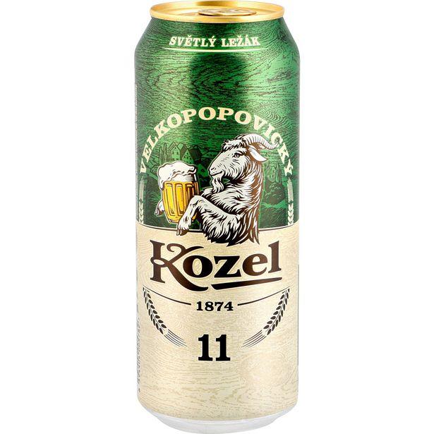 Pivo světlý ležák akce v 13,57Kč