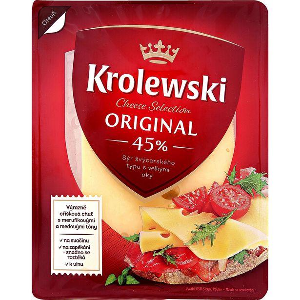 Polotvrdý sýr s oky ementálského typu akce v 22,9Kč