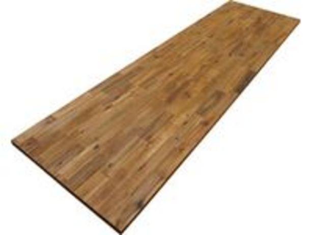 Pracovní deska zmasivního dřeva 240cmx63,5cmx2,6cm akát vzhled teakového akce v 2099Kč