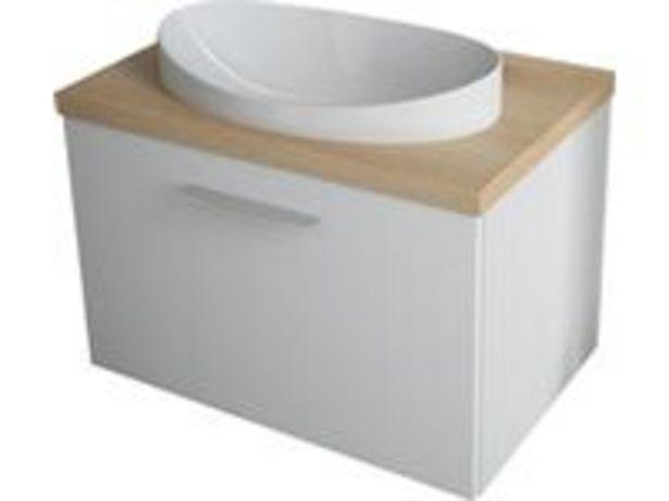 Koupelnová skříňka FERRY 70 s deskovým umyvadlem, 700 x 555 x 480 mm akce v 9999Kč