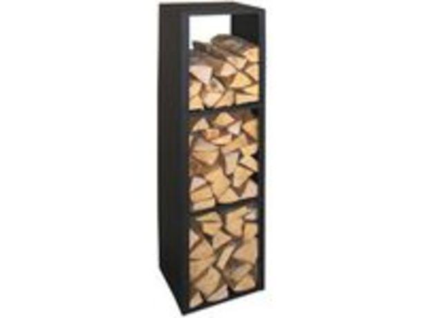 Lienbacher Regál na dřevo kovový sčerným povlakem akce v 3599Kč