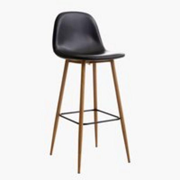 Barová židle JONSTRUP černá/dub akce v 1699Kč