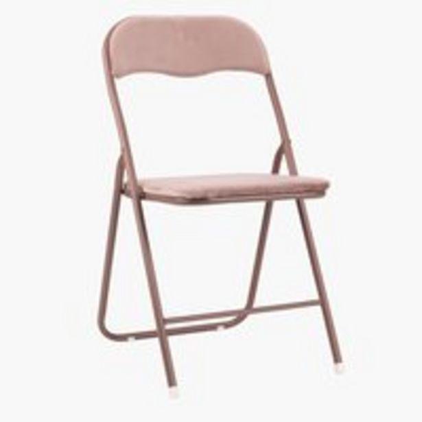 Skládací židle VIG samet růžová akce v 400Kč