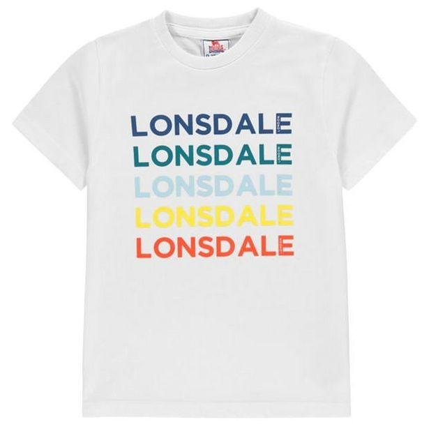 Lonsdale Rainbow Logo T-Shirt Junior Boys akce v 142Kč
